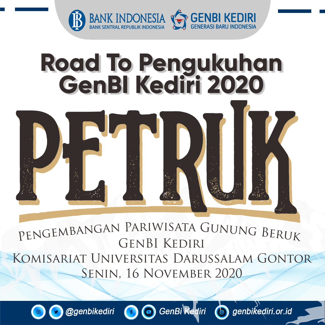 Road to Pengukuhan GenBI UNIDA 2020